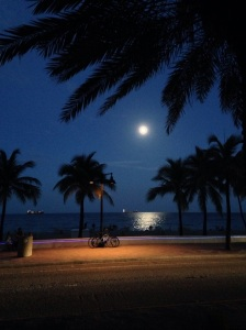 Moonlight on Ft. Lauderdale Beach